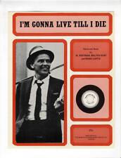 FRANK SINATRA Sheet Music 1950/1973 I'm Gonna Live Till I Die BRITISH
