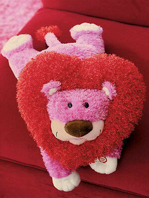Hallmark PURRCY the Huggable Lion Techno Plush Pink Lion Heart Shaped Mane