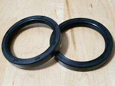 Qty2metric Oil Shaft Seal 60x75x10mm Dust Grease Seal Tc Double Lip With Spring