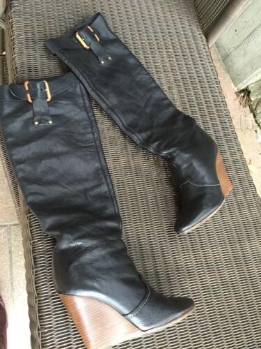Keilabsatz Schwarz Gr 5 Lammleder Von Top Stiefel Chloé 39 RnRFTW