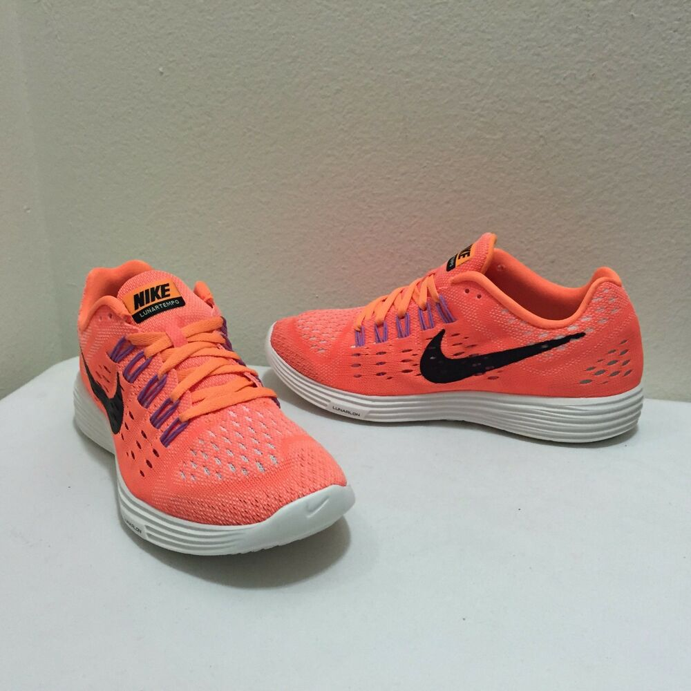 Nike Femme's chaussures fonctionnement Lunartempo Orange/noir 705462 800