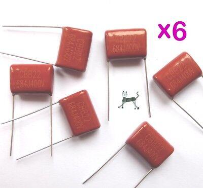 10x Polypropylen Folienkondensator 0,68µF 400V CBB22 680nF Film Kondensator 684J