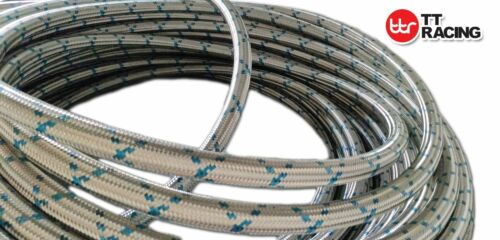 """6an AN6-15ft Braided Stainless Steel Fuel Hose Oil Line Track Car Racing 3//8/"""""""