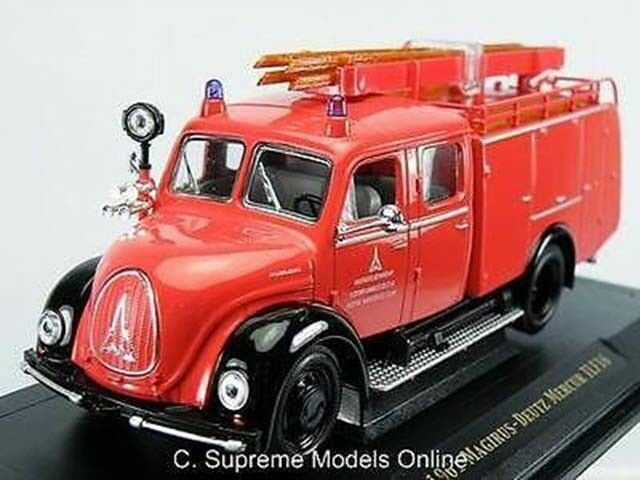 1961 MAGIRUS-DEUTZ MERCUR TLF16 FIRE ENGINE 1 43RD SCALE RED ISSUE BXD K8967Q
