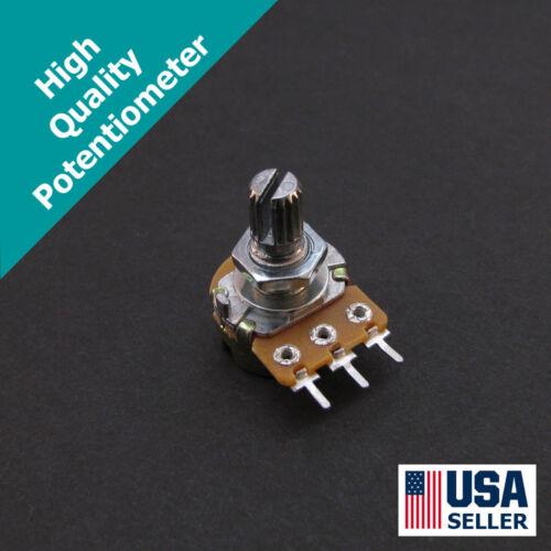 3pcs B100K 100K Ohm Linear Taper Potentiometer /& Knobs Single Gang Pot 3x U19