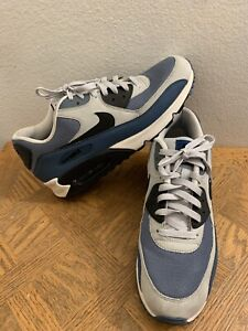 Details about Nike Air Max 90 Essential Grey Mist Blue Gray 537384-042  Men's Size 12