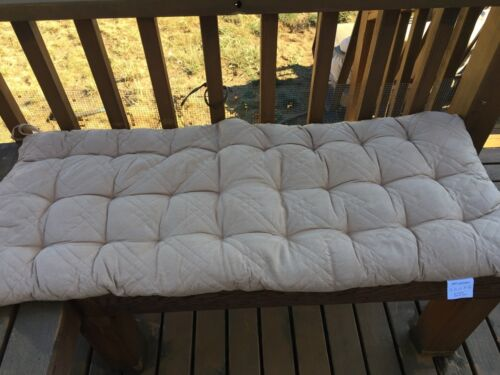 O/'fit Micro Suede fully quilted patio long bench chair pads dining chair cushion