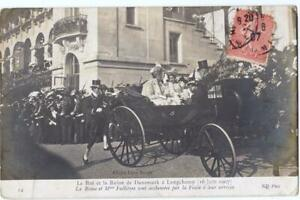 DENMARK-old-postcard-the-King-and-Queen-of-Denmark-at-Longchamp-year-1907