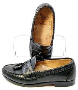 Allen Edmonds Maxfield Loafer Men 8E Black Leather Slip On Tassel Dress Shoe USA