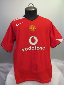 1ff6f79da Manchester United Jersey - 2004 2005 Home Red Jersey - By Nike 90 ...