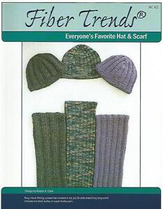 Everyones favorite hat scarf men women knitting pattern fiber image is loading everyone 039 s favorite hat amp scarf men dt1010fo