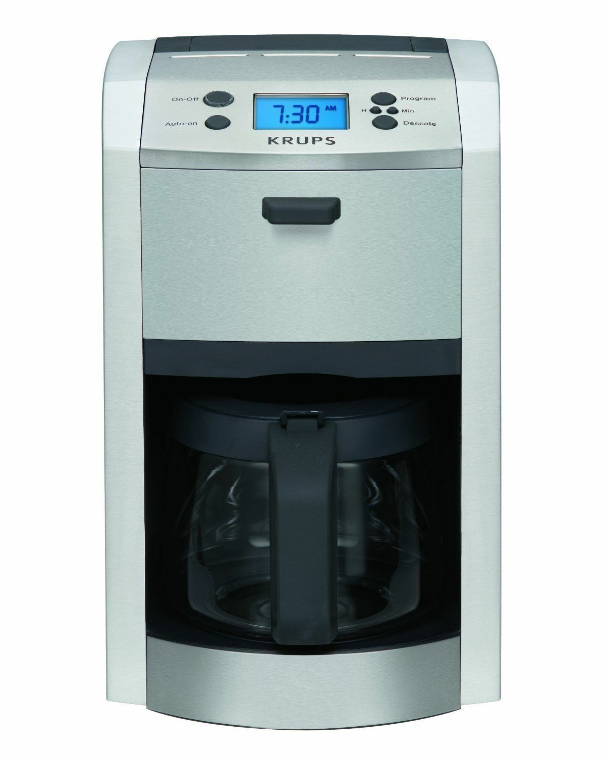KRUPS KM8105 12-CUP DIE-CAST PROGRAMABLE COFFEE MAKER STAINLESS STEEL BRAND NEW