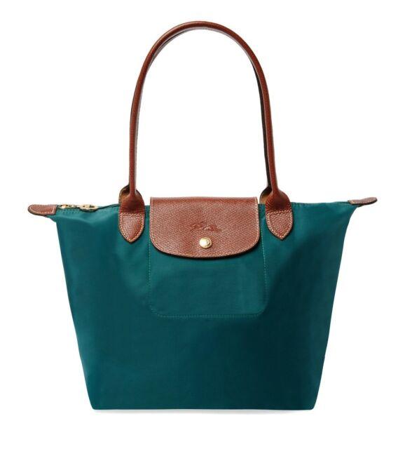 Longchamp 2605089 Le Pliage Medium Nylon Shoulder Tote Cedar Green Auth