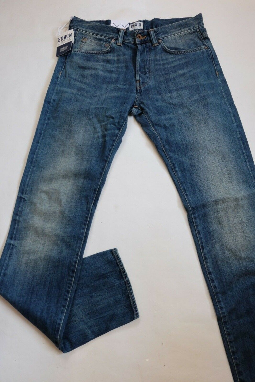 JEANS EDWIN HOMME ED 80 SLIM TAPERED (white listed -mid slush) W30  L34 VAL