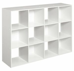Image Is Loading White 12 Cube Organizer Kids Toy Storage Office
