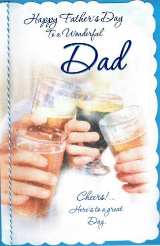 bière Design Fête des Pères Cheers Merveilleux père-Grand Qualité Père/'S Jour Carte