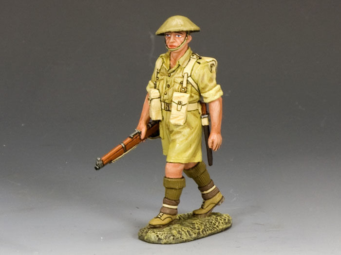 KING AND COUNTRY 8TH ARMY Aussie with Rifle at the Trail EA73 EA073