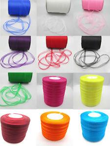 NEW-50-Yards-3-8-034-9mm-Satin-Edge-Sheer-Organza-Ribbon-Bow-Craft-U-pick-Colors