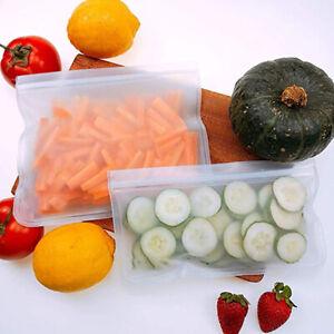 Reusable-silicone-food-storage-bag-refrigerator-sealed-bag-zipper-leakproof
