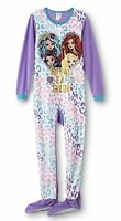 Size 14/16 Xl Girls Ever After High Pajamas Fleece Zip Up Onesie Footed Zipper