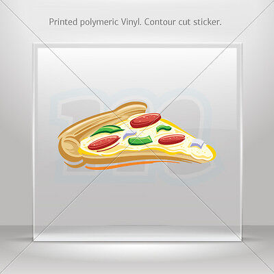 Sticker Decals Pizza Car Motorbike Bike polymeric vinyl Garage st5 W9878