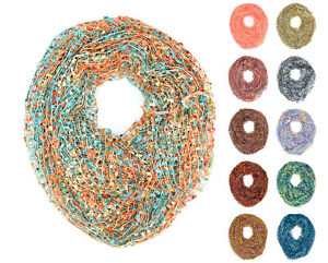 64-034-Wide-Crochet-Confetti-Infinity-Spring-Summer-Scarf-Knit-Multi-Color-Loop