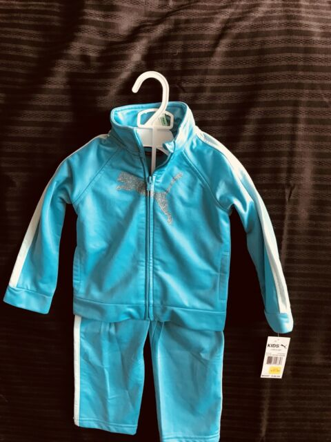 52bdd937650f NEW PUMA TODDLER GIRLS 2 PIECE ATHLETIC TRACK SUIT OUTFIT SIZE 18 MONTHS