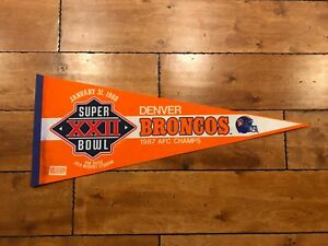 1988-SUPER-BOWL-XXII-SB-22-DENVER-BRONCOS-GAME-DAY-Pennant