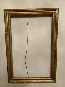 Vintage-Wood-Old-Gilded-Picture-Frame-23x15-6-and-20-3x13