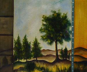 Gemaelde-Blick-in-den-Wald-handgemalt-Leinwand-Acryl-Malerei-Natur-Wildnis