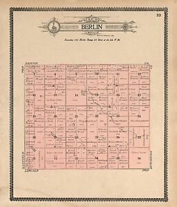 1909 DOUGLAS COUNTY plat map SOUTH DAKOTA GENEALOGY history Atlas Land P134