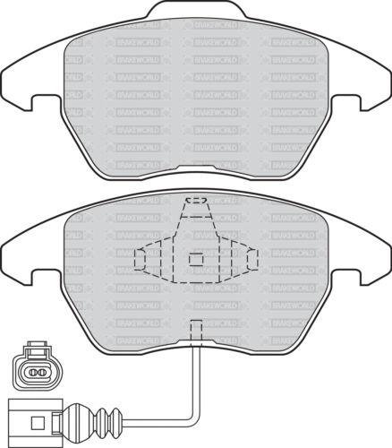OEM FRONT DISCS AND PADS 312mm FOR VOLKSWAGEN PASSAT CC 2.0 TD 170 BHP 2008-12