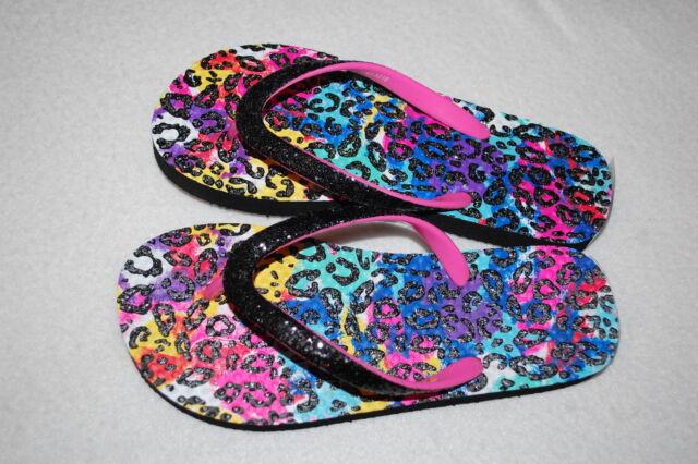 Girls Flip Flops SHOPKINS Pink Silver Glitter Strap S 11-12 M 13-1 L 2-3 XL 4-5