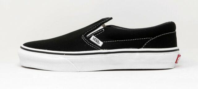 boys black slip on vans