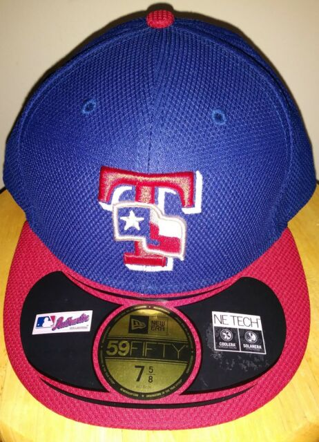 newest collection acc58 dbbca ... denmark texas rangers hat royal scarlet cap authentic mlb on field  59fifty new era 7 5
