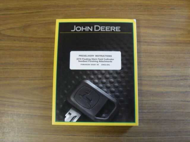 John Deere 2210 Floating Hitch Field Predelivery Instructions Pn