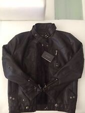 ZARA 2014 Spring New Men's Leather Jacket Collar Motorcycle Jacket Male Medium