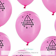 Hen Night Party Do Accessories Decorations Bag Fillers 12 Pink Latex Balloons