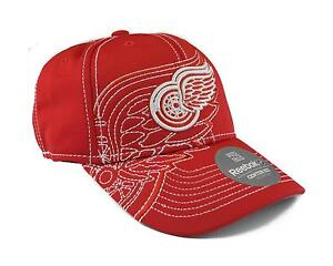 07d5bbcd894 Image is loading NHL-Detroit-Red-Wings-Reebok-Red-Draft-Cap-