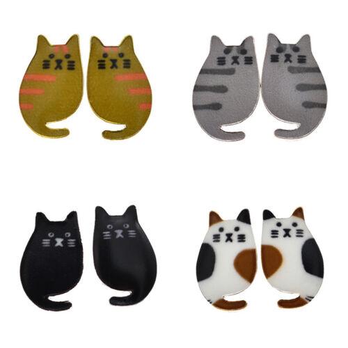 1 Paire Tendance Kawaii Cartoon Animal Chat Goutte Dangle Boucle d/'oreille Bijoux Femmes Cadeau
