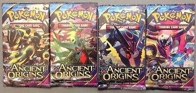 Pokemon XY Ancient Origins 4 Booster Packs Brand New And Sealed
