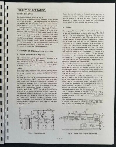 Denon DP-1200 Series Turntable Service Manual