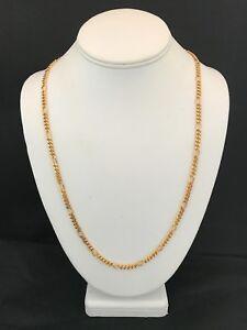 Vintage-Trifari-Necklace-Gold-Tone-Class-Link-Design-Chic-Signed-8C