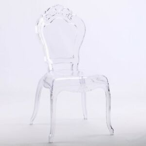 FRENCH-LOUIS-BELLA-CLEAR-GHOST-DINING-OCCASIONAL-VANITY-CHAIR-TRANSPARENT