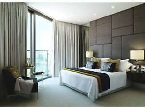 Image Is Loading Designer Upholstered Padded Wall Tiles Bedroom Feature
