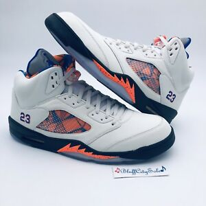de538a0216c9ac Nike Air Jordan Retro 5 International Flight Sail Blue Orange 136027 ...