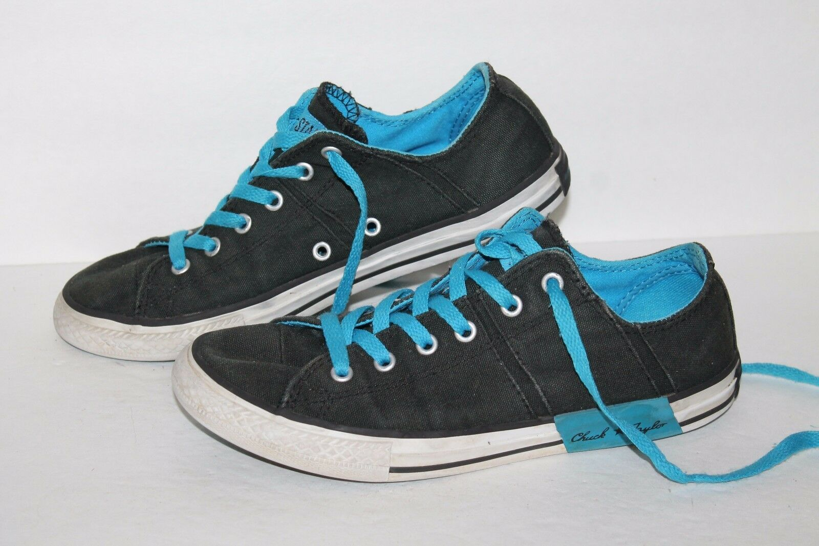 Converse All Star Low Casual Sneakers, F, Black/Blue, Mens US Size 5