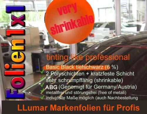 21,18€//qm 300x51cm+125x76cm LLumar Profi Tönungsfolie Basic Black 6/% shrinkable