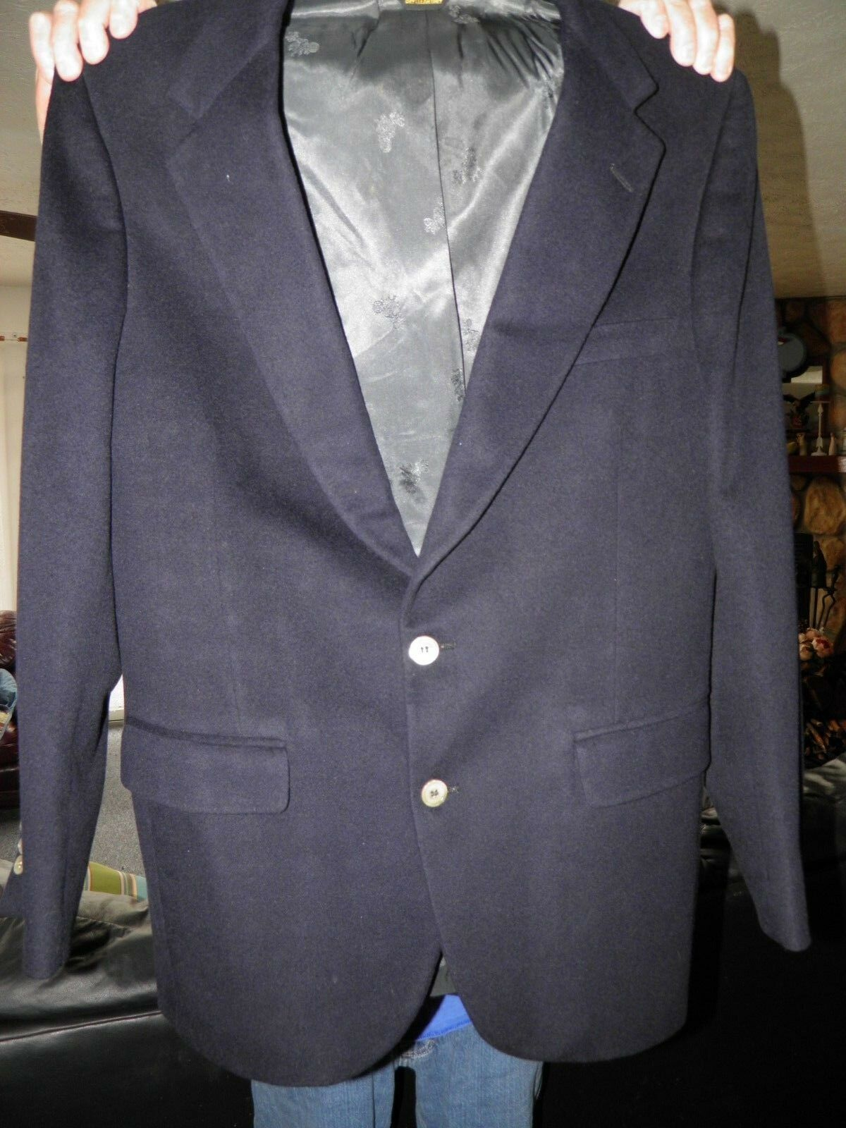 Men's Dark bluee SSSSSSSSS 100 % Cashmere Sport Coat Blazer 40 R