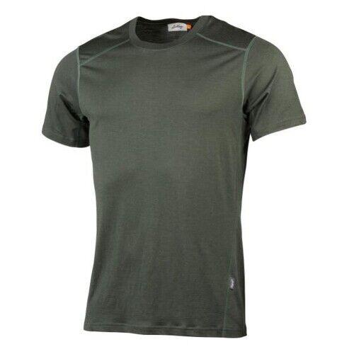 LUNDHAGS gimmer Merino LT MS tè DK Forest verde Tshirt di lana merino